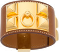 Luxury Accessories:Accessories, Hermes Fauve Barenia Leather Collier de Chien Bracelet with Gold Hardware. Q Square, 2013. Very Good to Excellent Cond...