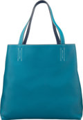 Luxury Accessories:Bags, Hermes Blue Izmir & Blue Saphir Clemence Leather Double Sens GM Reversible Tote Bag. R Square, 2014. Excellent to Pristine...