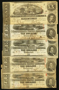 Confederate Notes:1863 Issues, CSA - Lot of 5 Circulated Lesser Denomination 1863 Notes.. ...(Total: 5 notes)