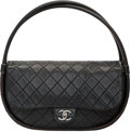 "Luxury Accessories:Bags, Chanel Black Quilted Lambskin Leather Medium Hula-Hoop Bag.Excellent Condition. 12.5"" Width x 5"" Height x 4"" Depth. ..."