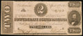 Confederate Notes:1863 Issues, CSA - T-61 April 6, 1863 $2 Extremely Fine.. ...