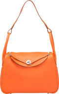 """Luxury Accessories:Bags, Hermes 34cm Feu Clemence Leather Lindy Bag with Palladium Hardware.T, 2015. Pristine Condition. 13.5"""" Width x 8"""" Height x..."""