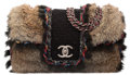 "Luxury Accessories:Bags, Chanel Brown & Black Faux Fur Flap Bag. Excellent Condition. 14"" Width x 7"" Height x 4"" Depth. ..."
