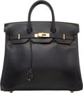 """Luxury Accessories:Bags, Hermes 32cm Black Calf Box Leather HAC Birkin Bag with Gold Hardware. X Circle, 1994. Very Good Condition. 12.5"""" W..."""