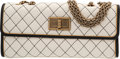 "Luxury Accessories:Bags, Chanel White Quilted Lambskin Leather Flap Bag. Very Good to Excellent Condition. 10"" Width x 4"" Height x 3"" Depth. ..."