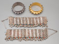 Estate Jewelry:Bracelets, Four Silver-Plated and Gilt Bracelets from Oman. 8-1/4 inches long(21.0 cm) (bracelet length, laid flat). This group of j... (Total:4 Items)