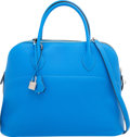 Luxury Accessories:Bags, Hermes 35cm Blue Hydra Clemence Leather Mou Bolide Bag with Palladium Hardware. T, 2015. Excellent to Pristine Conditi...