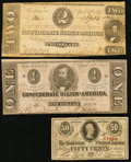 Confederate Notes:1863 Issues, CSA - Lot of 3 Low Denomination 1863 Notes.. ... (Total: 3 notes)