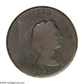 Large Cents: , 1793 1C Liberty Cap. S-12, B-21, Low R.6. Good 6 NGC and EAC. DieState II. Just shy of the latest die state known with a p...