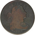 Large Cents: , 1796 1C Draped Bust, Reverse of 1797. S-119, B-40,R.3--Environmental Damage--NCS. Good Details. Good 6 EAC. This isthe 17...