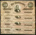 Confederate Notes:1864 Issues, CSA - Lot of 4 T-66 1864 $50 Notes.. ... (Total: 4 notes)