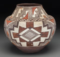 American Indian Art:Pottery, A Laguna Four Color Jar. Possibly by Arroh-ah-och. c. 1900...
