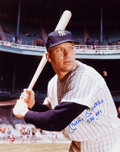 "Baseball Collectibles:Photos, 1990's Mickey Mantle ""536 HRs"" Signed Large Photograph...."