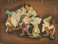 Animation Art:Presentation Cel, Snow White and the Seven Dwarfs Publicity Cel and Background(Walt Disney, 1937)....