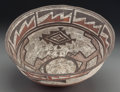 American Indian Art:Pottery, A Zuni Polychrome Dough Bowl. c. 1870...