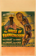 "Movie Posters:Horror, House of Frankenstein (Universal, 1944). Window Card (14"" X 22"")....."
