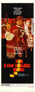 "Movie Posters:Western, For a Few Dollars More (United Artists, 1967). Insert (14"" X 36"")....."