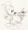 Animation Art:Production Drawing, Boat Builders Mickey Mouse Animation Drawing (Walt Disney, 1938)....