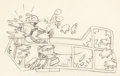 Animation Art:Production Drawing, The Wayward Canary Mickey Mouse Animation Drawing (Walt Disney, 1932)....