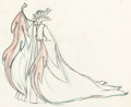 Animation Art:Production Drawing, Sleeping Beauty Maleficent Pan Animation Drawing (WaltDisney, 1959).. ...