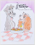 Animation Art:Production Drawing, Willie Ito Lady and the Tramp Illustration (undated)....