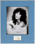 Memorabilia:Miscellaneous, Cher Autograph and Black and White Photograph....