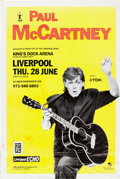 "Memorabilia:Beatles, Paul McCartney (of the Beatles) ""Let It Be Liverpool""Concert Poster (Marshall Arts Ltd, 1990)...."