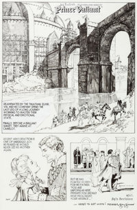 Gary Gianni Prince Valiant #3844 Sunday Comic Strip Original Art dated 10-10-10 (King Features Syndicate, 2010)