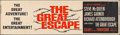 """Movie Posters:War, The Great Escape (United Artists, 1963). Banner (24"""" X 82""""). War....."""
