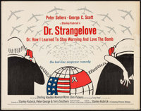 """Dr. Strangelove or: How I Learned to Stop Worrying and Love the Bomb (Columbia, 1964). Half Sheet (22"""" X 28"""")..."""