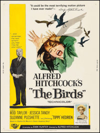 "The Birds (Universal, 1963). Poster (30"" X 40""). Hitchcock"