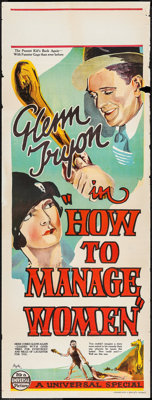 "How to Handle Women (Universal, 1928). Australian Pre-War Daybill (15"" X 40""). Comedy. Alternate Title: How to..."