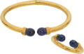 Estate Jewelry:Suites, Sodalite, Gold Jewelry Suite, Lalaounis. ... (Total: 2 Items)