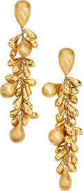 Estate Jewelry:Earrings, Gold Earrings. . ... (Total: 2 Items)