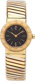 Estate Jewelry:Watches, Bvlgari Lady's Gold Tubogas Intrgral Bracelet Watch. ...