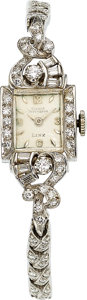 Estate Jewelry:Watches, Girard Perregaux Lady's Diamond, White Gold Watch. ...
