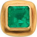 Estate Jewelry:Rings, Colombian Emerald, Gold Ring. ...