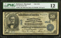 National Bank Notes:Maryland, Baltimore, MD - $50 1902 Plain Back Fr. 682 The Merchants NB Ch. #1413. ...