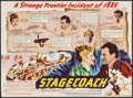 """Movie Posters:Western, Stagecoach (United Artists, 1939). Herald (Closed: 6"""" X 8.75"""", Opened 12"""" X 8.75"""") DS. Western.. ..."""