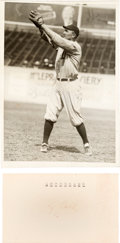 Baseball Collectibles:Photos, Circa 1920 Ty Cobb Original Photograph (PSA/DNA Type 1) &Signed Autograph Page. ...