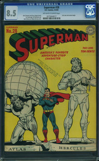 Superman #28 (DC, 1944) CGC VF+ 8.5 Off-white to white pages