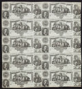 Confederate Notes:1861 Issues, Confederate States of America - Uncut Sheet of Ten T-20 $20September 2, 1861 PF-8 Cr. 142 Notes.. ...