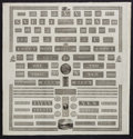 Miscellaneous:Other, Bank Note Company Engraving Proof Sample Sheet for Draper,Underwood, Bald & Spencer.. ...
