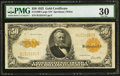 Large Size:Gold Certificates, Fr. 1200 $50 1922 Gold Certificate PMG Very Fine 30.. ...