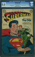 Golden Age (1938-1955):Superhero, Superman #58 (DC, 1949) CGC VG 4.0 Off-white to white pages.