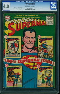 Superman #100 (DC, 1955) CGC VG 4.0 Cream to off-white pages