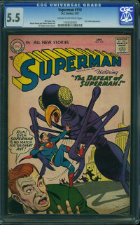 Superman #110 (DC, 1957) CGC FN- 5.5 Cream to off-white pages