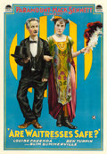 "Movie Posters:Comedy, Are Waitresses Safe? (Paramount, 1917). One Sheet (28.5"" X 41"")....."
