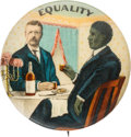 Political:Pinback Buttons (1896-present), Theodore Roosevelt: Full Color Equality Pin. ...
