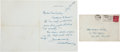 Autographs:U.S. Presidents, Herbert Hoover: Autograph Letter Signed.... (Total: 2 Items)